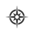 Compass icon vector Royalty Free Stock Photo