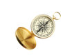 Compass isolated on a white Royalty Free Stock Photo