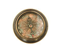 Compass  isolated  on  white background Royalty Free Stock Photo