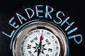Compass With Leadership Text Royalty Free Stock Photo