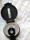 stock image of  Compass on a map Traveling in Japan