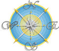 Compass for a Map Vector Royalty Free Stock Images