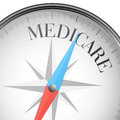 Compass medicare detailed illustration of a with text Royalty Free Stock Photo