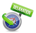 Compass pointing to relaxation illustration design over white Royalty Free Stock Photos