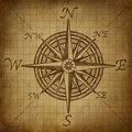 Compass rose with grunge texture Royalty Free Stock Photo