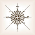 Compass rose sketch style vector illustration Royalty Free Stock Photo