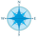Compass rose in two colors vector illustration Royalty Free Stock Images