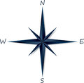 Compass rose on white background vector illustration Stock Photos