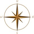 Compass rose on white background vector illustration Stock Photography