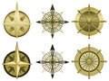 Compass roses Royalty Free Stock Photo