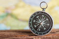 Compass showing the direction Royalty Free Stock Photo
