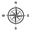 Compass silhouette black image illustration Royalty Free Stock Photo