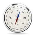 Compass silver direction north south east west Royalty Free Stock Images
