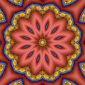Compass star flower mandala Royalty Free Stock Image
