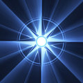Compass star symbol blue flare Stock Photo