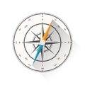 Compass vector illustration of diagram isolated on white background Royalty Free Stock Photography