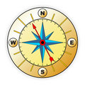 Compass with windrose Stock Photography