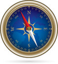 Compass with windrose retro style shiny vector illustration Stock Image