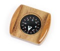 Compass wood housed pointing down to north on a white background Royalty Free Stock Photography
