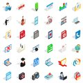 Compendium icons set, isometric style Royalty Free Stock Photo