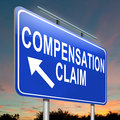 Compensation claim. Stock Photography