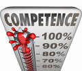 Competence Capability Reliable Performance Theremometer Measurem Royalty Free Stock Photo