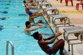 Competição da natação Fotos de Stock Royalty Free