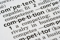 Competition Defined Royalty Free Stock Photo