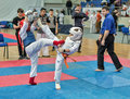 Competition on kyokushinkai karate. Stock Images