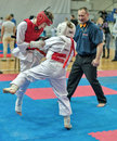Competition on kyokushinkai karate. Stock Photos