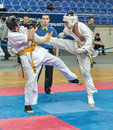 Competition on kyokushinkai karate. Stock Photo