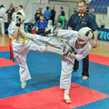Competition on kyokushinkai karate. Stock Image