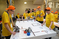Competitions of robots among school students