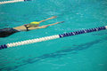 Competitions in swimming women a pool Royalty Free Stock Photography