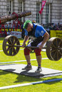 A competititor in the Ultimate Strongest man Competition at Belfast City Hallr Royalty Free Stock Photo