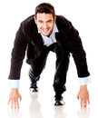 Competitive business man Stock Photography