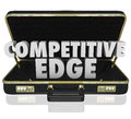 Competitive Edge Briefcase Sales Advantage Presentation Proposal Royalty Free Stock Photo