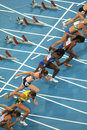 Competitors of 100m Women Royalty Free Stock Photo