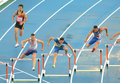 Competitors of 400m Hurdles Men Stock Photos