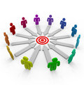 Competitors Aiming for the Same Goal Royalty Free Stock Photo