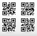 Compilation qr code ready to scan with smart phone Royalty Free Stock Photography