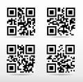 Compilation qr code ready to scan with smart phone Stock Photos