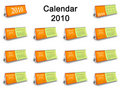 Complete 2010 table Calendar set Royalty Free Stock Photography