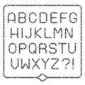 Complete broken chain alphabet - freedom concept