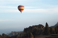 Complete cerene ballon fly over Göreme landscape Royalty Free Stock Photo