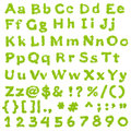 Complete Eco Green Alphabet Royalty Free Stock Images