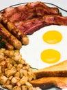 Kompletný vajcia raňajky (blízko portrét)