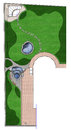 Complete garden landscaping master plan, illustration