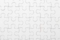 Complete puzzle in white color Royalty Free Stock Image