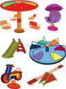 The complete set a children's swing. Cartoon Royalty Free Stock Photos